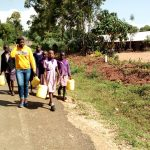 The Water Project: Magaka Primary School -  Going To Fetch Water