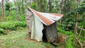 The Water Project:  A Collapsing Latrine Still In Use