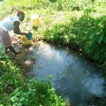 The Water Project: Mukoko Community, Mukoko Spring -  Fetching Water