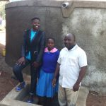 The Water Project: Lukala Primary School -  Field Officer Jemmimah Khasoha Columba Murono And John Olwanda