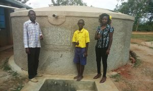 The Water Project:  Isaac Makokha Frankline Omusonga And Field Officer Faith Muthama