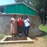 The Water Project: Malinya Girls Secondary School -  Rita Meli Fidelia Ajwang And Field Officer Jacklyne Chelagat