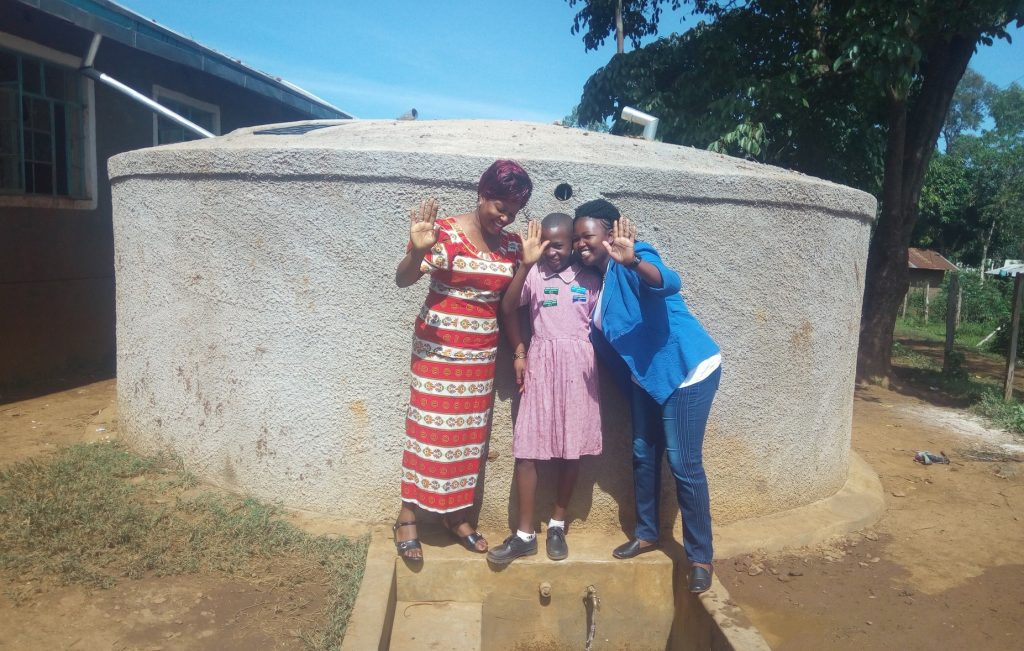 The Water Project : kenya4686-rodah-muhati-venus-muhonje-and-field-officer-jacklyne-chelegat