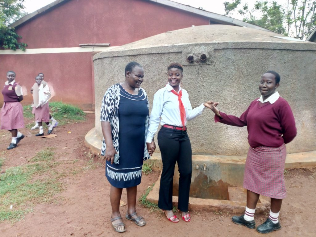 The Water Project : kenya4690-josephine-omamo-field-officer-jemmimah-khasoha-and-ashley-achieng