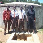 The Water Project: Shiyabo Secondary School -  Field Officer Jonathan Mutai Joshua Wambire And Principal Joyce Kisali