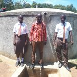 The Water Project: Shiyabo Secondary School -  Field Officer Jonathan Mutai And Joshua Wambire