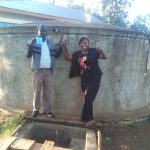 The Water Project: Iyenga Primary School -  Headteacher Christopher Birgen And Field Officer Jacklyne Chelagat