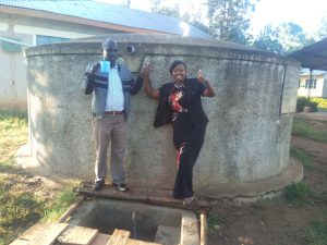 The Water Project:  Headteacher Christopher Birgen And Field Officer Jacklyne Chelagat
