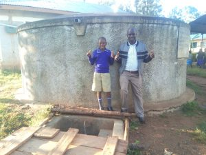 The Water Project:  Zebedee Alubitsia And Headteacher Christopher Birgen