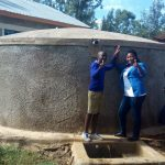 The Water Project: Iyenga Primary School -  Zebedee Alubitsia And Field Officer Jacklyne Chelagat