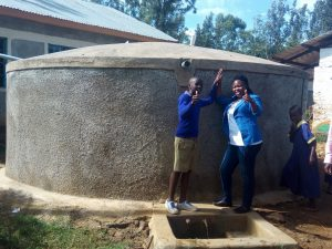 The Water Project:  Zebedee Alubitsia And Field Officer Jacklyne Chelagat