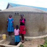 The Water Project: Maganyi Primary School -  Brevisious Lugadilo Diana Mukhono And Sheila Msilivi