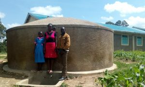 The Water Project:  Diana Mukhono Sheila Msilivi And Field Officer Wilson Kipchoge
