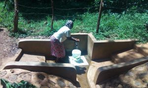 The Water Project:  Ruth Ayoli Enjoys Water At The Spring