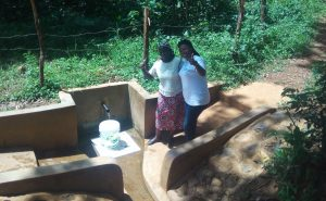 The Water Project:  Ruth Ayoyi And Field Officer Jacklyne Chelagat