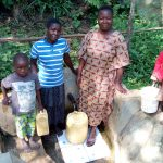 The Water Project: Shitoto Community, Laurence Spring -  Brian Murunga His Mother Phanice Nashilove And His Sister At The Spring