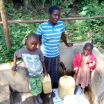 The Water Project: Shitoto Community, Laurence Spring -  Brian Murunga His Mother And His Sister At The Spring