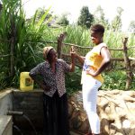 The Water Project: Futsi Fuvili Community, Patrick Munyalo Spring -  Naomi Osula And Field Officer Jemmimah Khasoha