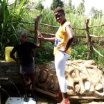The Water Project: Futsi Fuvili Community, Patrick Munyalo Spring -  Stella Anne And Field Officer Jemmimah Kohasoha