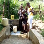 The Water Project: Futsi Fuvili Community, Patrick Munyalo Spring -  Thumbs Up For Reliable Water