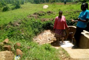 The Water Project:  Agripinna Livivi And Field Officer Olivia Bomji