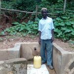 The Water Project: Elunyu Community, Saina Spring -  Herman Kaongeli