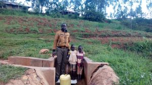 The Water Project:  Field Officer Wilson Kipchoge Rebecca Asiko And Her Friend