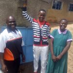 The Water Project: Chandolo Primary School -  Bernard Madafu Field Officer Lillian Achieng And Brillian Lwane