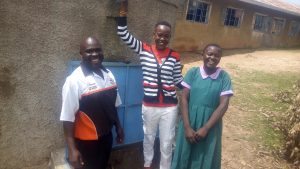 The Water Project:  Bernard Madafu Field Officer Lillian Achieng And Brillian Lwane