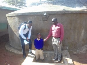 The Water Project:  Field Officer Samuel Simdi Emmanuel Mbali And Teddy Liabeha