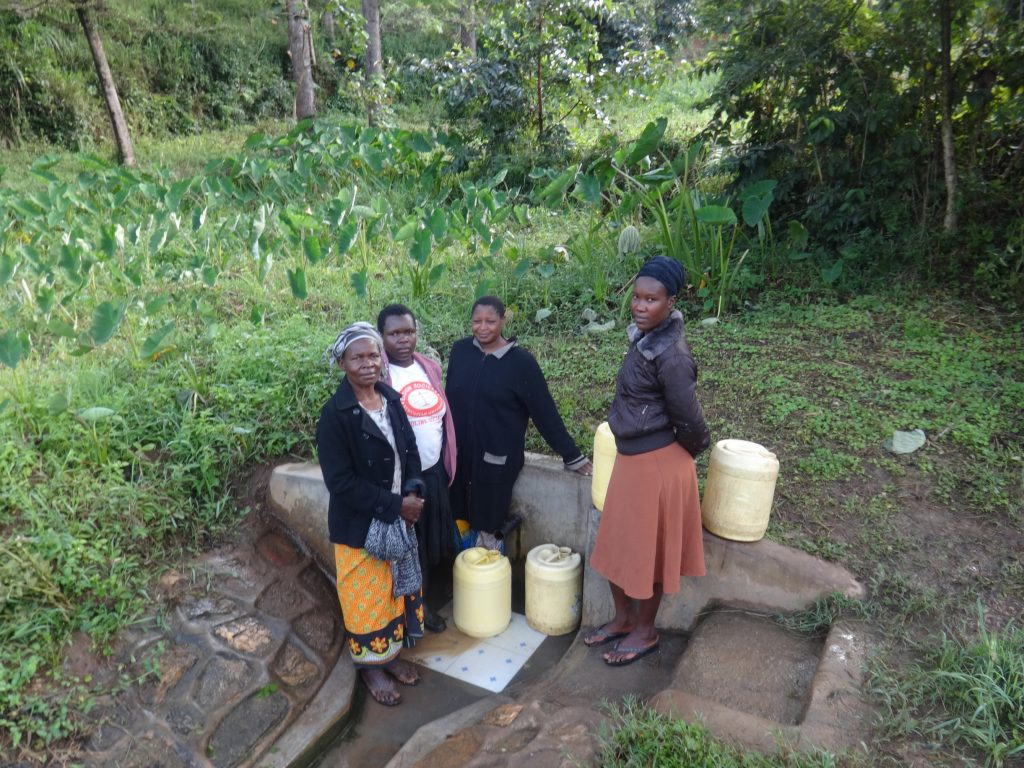 The Water Project : kenya4853-judith-mumani-josephine-mmbone-and-their-friends-at-the-spring