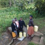 The Water Project: Shitungu Community, Mmbone Spring -  Judith Mumani Josephine Mmbone And Their Friends At The Spring