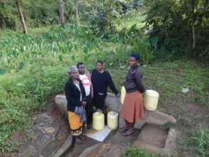 The Water Project:  Judith Mumani Josephine Mmbone And Their Friends At The Spring