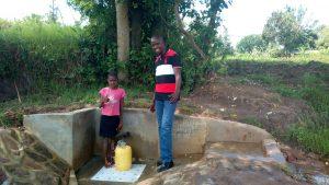 The Water Project:  Mercy Simwa And Field Officer Jonathan Mutai