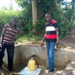 The Water Project: Luyeshe Community, Simwa Spring -  Simion Simwa And Field Officer Jonathan Mutai