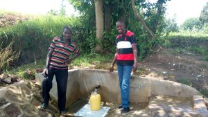 The Water Project:  Simion Simwa And Field Officer Jonathan Mutai