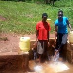 The Water Project: Mudete Community -  Beverlyne Akadanya And Field Officer Lillian Achieng