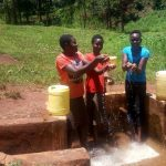 The Water Project: Mudete Community -  Catherine Egehiza Beverlyne Akadanya And Field Officer Lillian Achieng