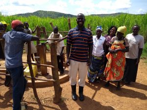 The Water Project:  Community Members Happy About Their Water Point