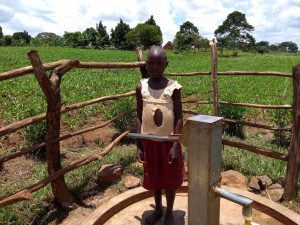The Water Project:  Bridget Tumusiime A Community Pupil At The Well