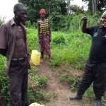 The Water Project: Abangi-Ndende Community -  Our Field Officer Making A Point To The Community Member