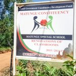 The Water Project: Matungu SDA Special School -  School Sign