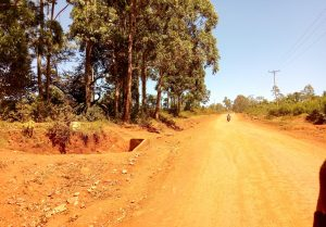 The Water Project:  Road Leading Into Sango