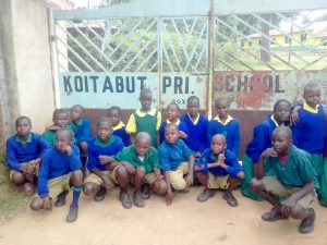The Water Project:  Students At Gate