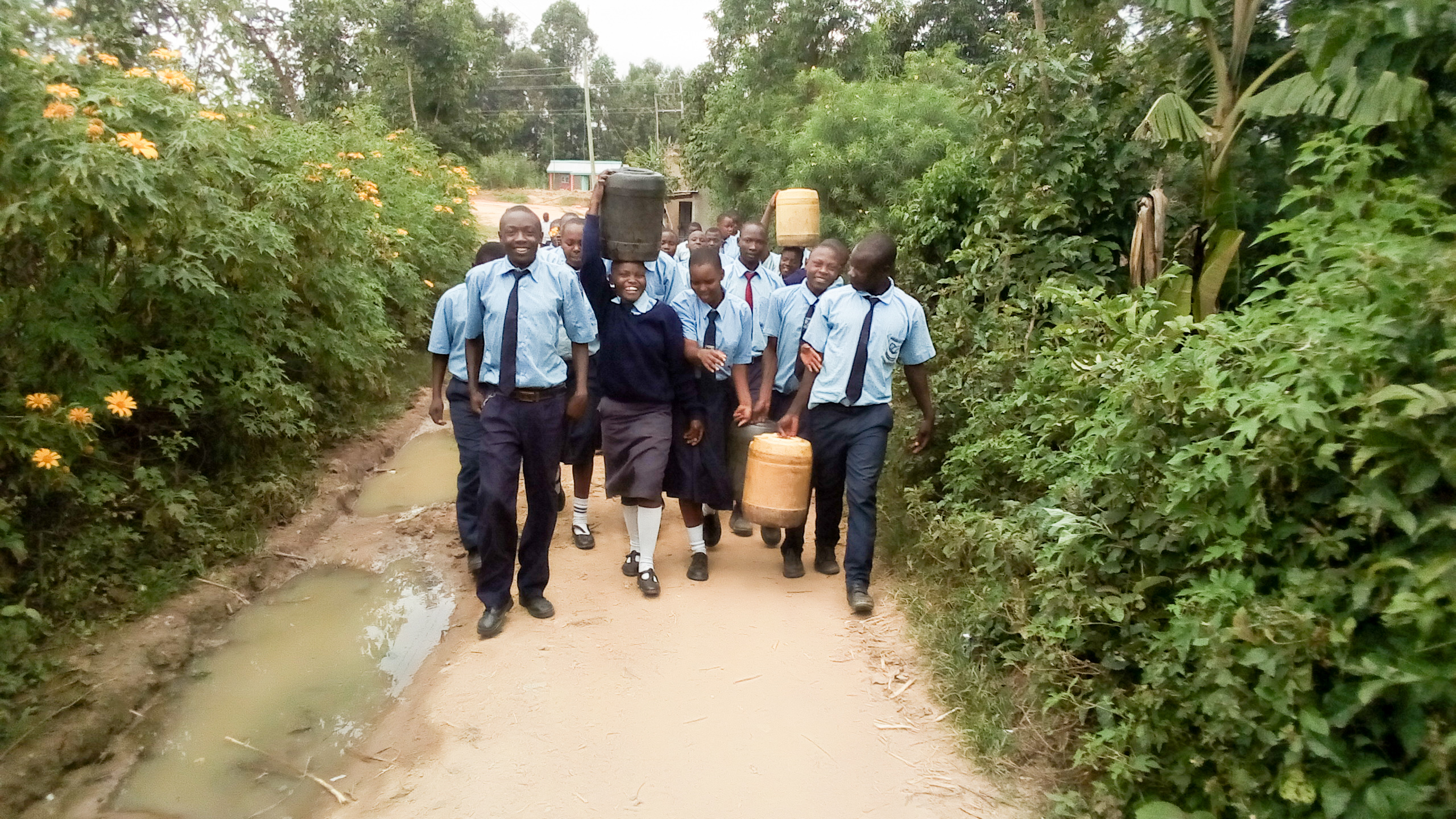 The Water Project : 10-kenya19012-walking-back-to-school