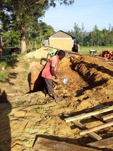 The Water Project:  Sinking Pit For Latrines