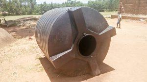 The Water Project:  Broken Plastic Tank