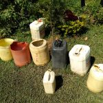 The Water Project: Sambuli Community, Nechesa Spring -  Water Containers