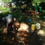 The Water Project: Mungakha Community, Asena Spring -  People Helping With Construction