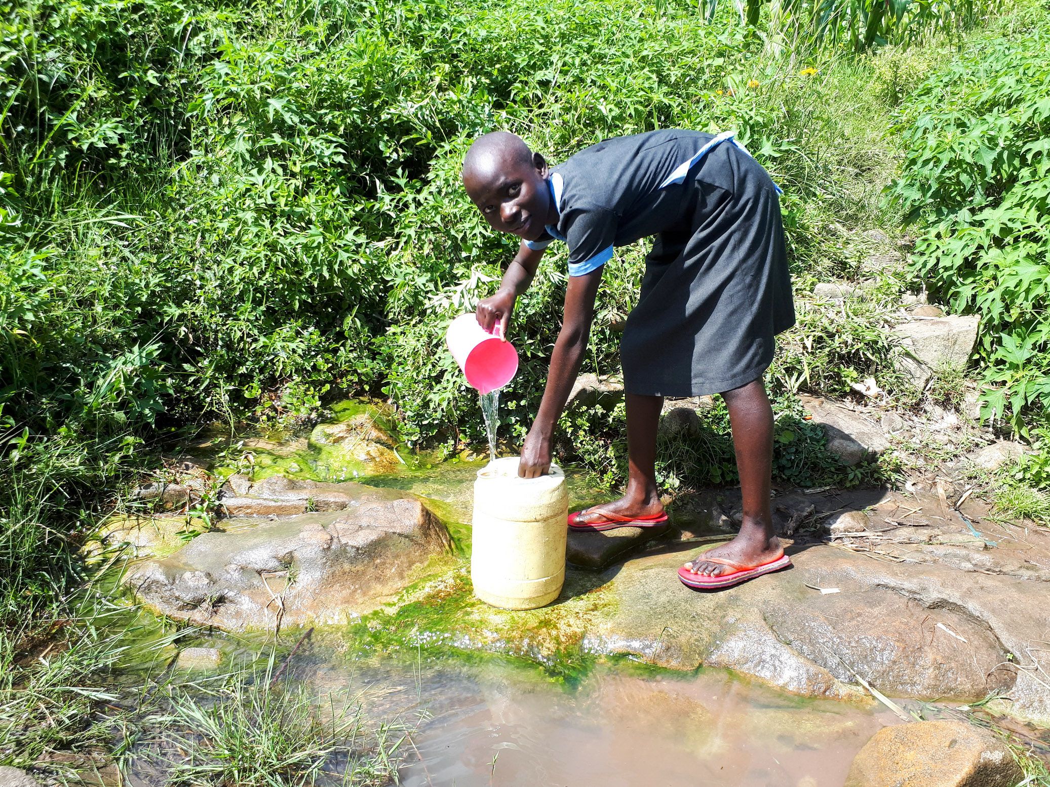 The Water Project : 12-kenya19015-fetching-water